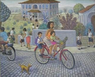 Volta da Escola - OST - 38x46cm quadro do Pintor Vidal