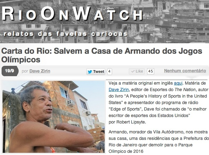 Site RioOnWatch