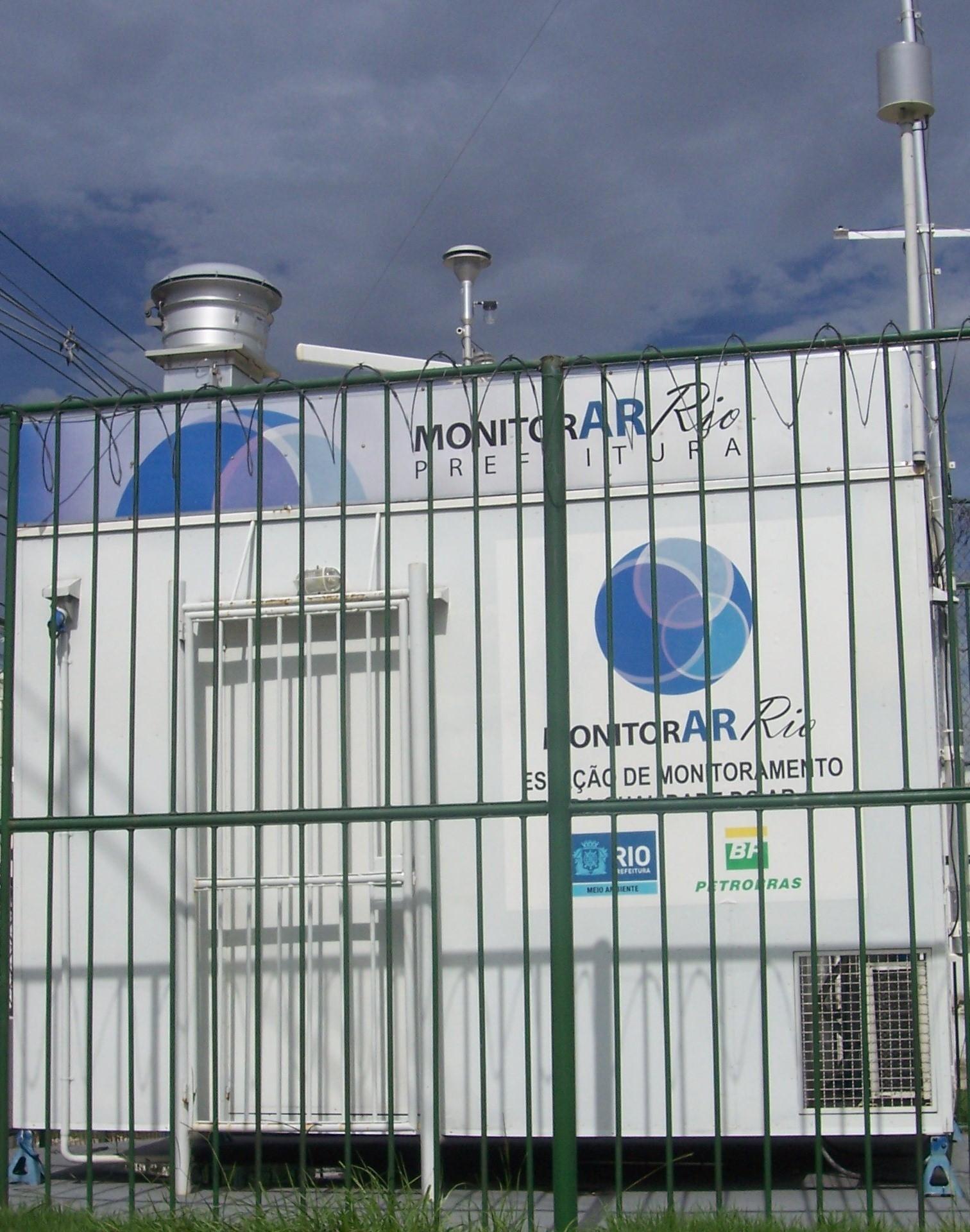 Estação de Monitoramento de Ar de Bangu, na Rua Mongólia
