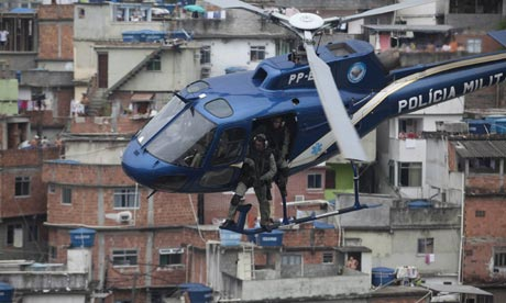 Military operation to take control of slums in Rio de Janiero