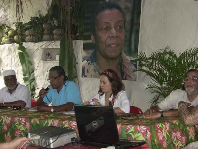 Liderança do Quilombo Sacopã apresenta o caso para antropólogo do INCRAok