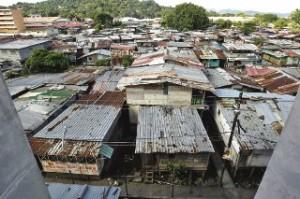 Barrio pobre em Panamá