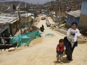 Barrio em Nicarágua