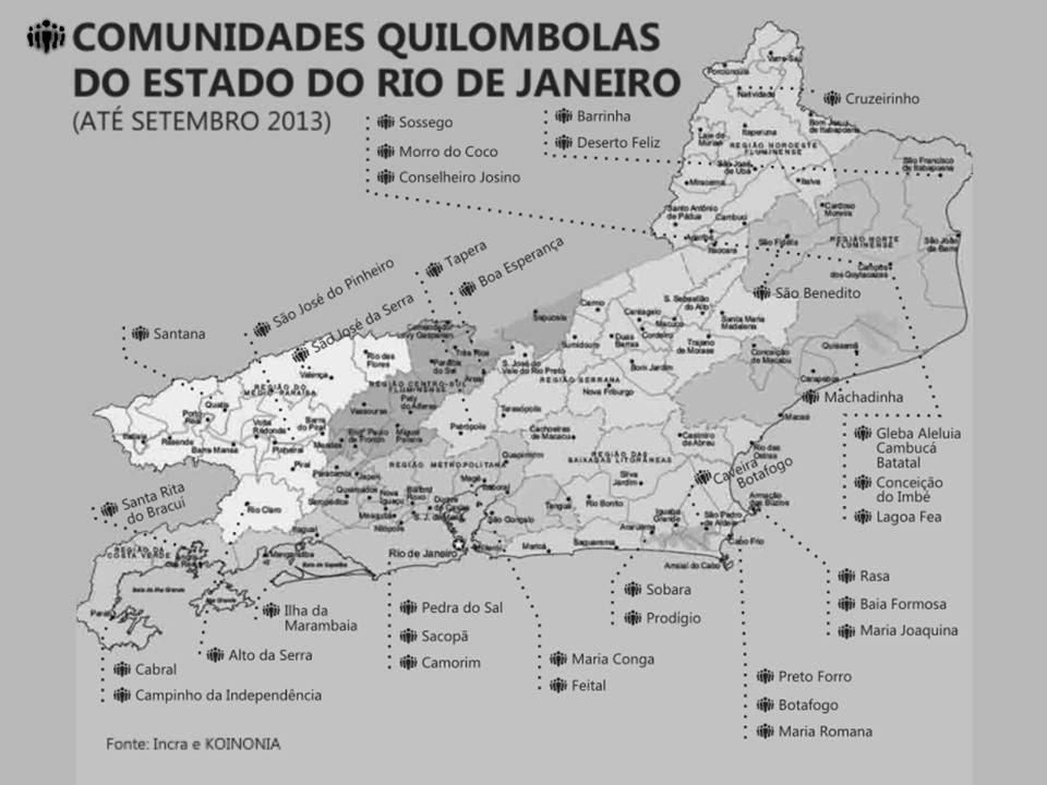 Quilombos Estado RJ