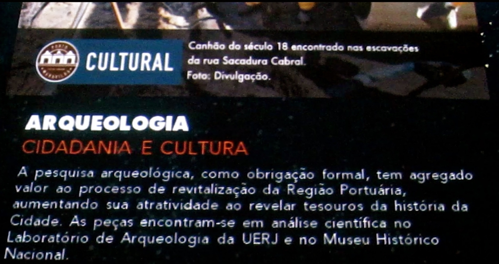 Arqueologia - pôster do Porto Maravilha
