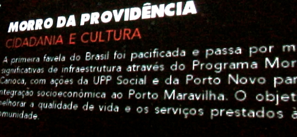 Providência - pôster do Porto Maravilha