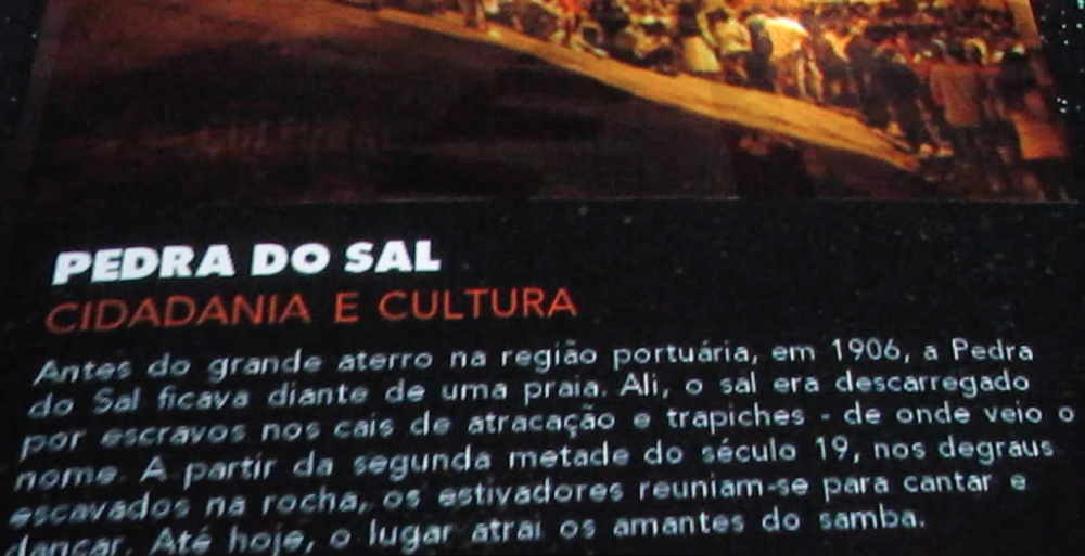 Pedra do Sal - pôster do Porto Maravilha
