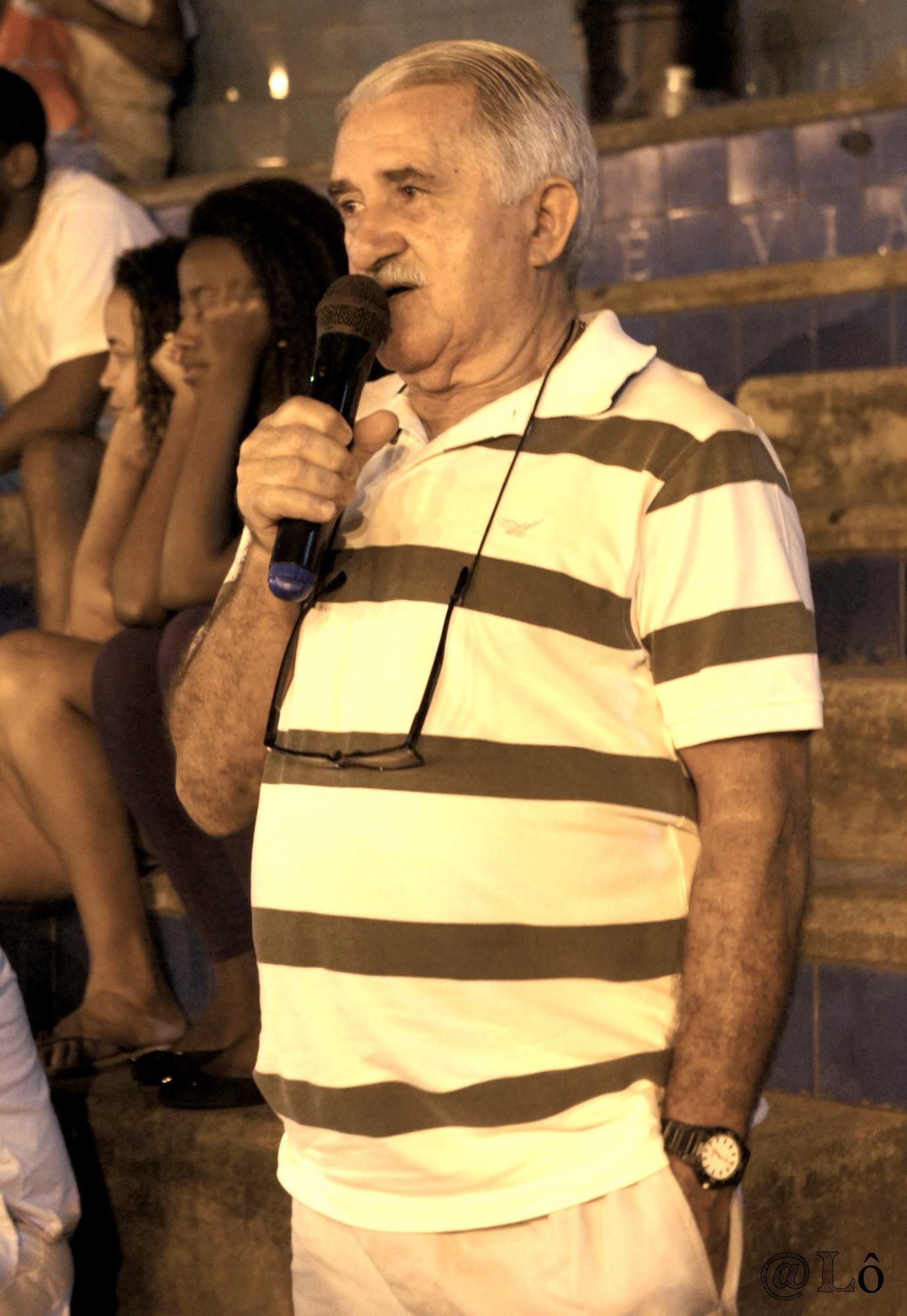 Armando Almeida Lima falando sobre Vidigal. Lorraine Gaucher-Petitdemange