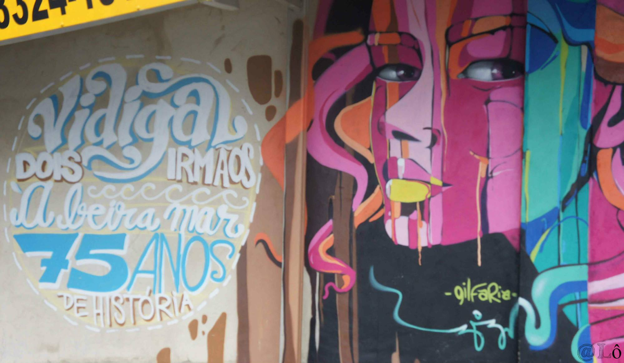 Galeria Viva na entrada do Vidigal. Lorraine Gaucher-Petitdemange