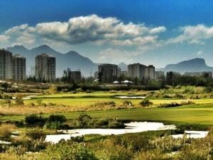 Área do campo de golfe