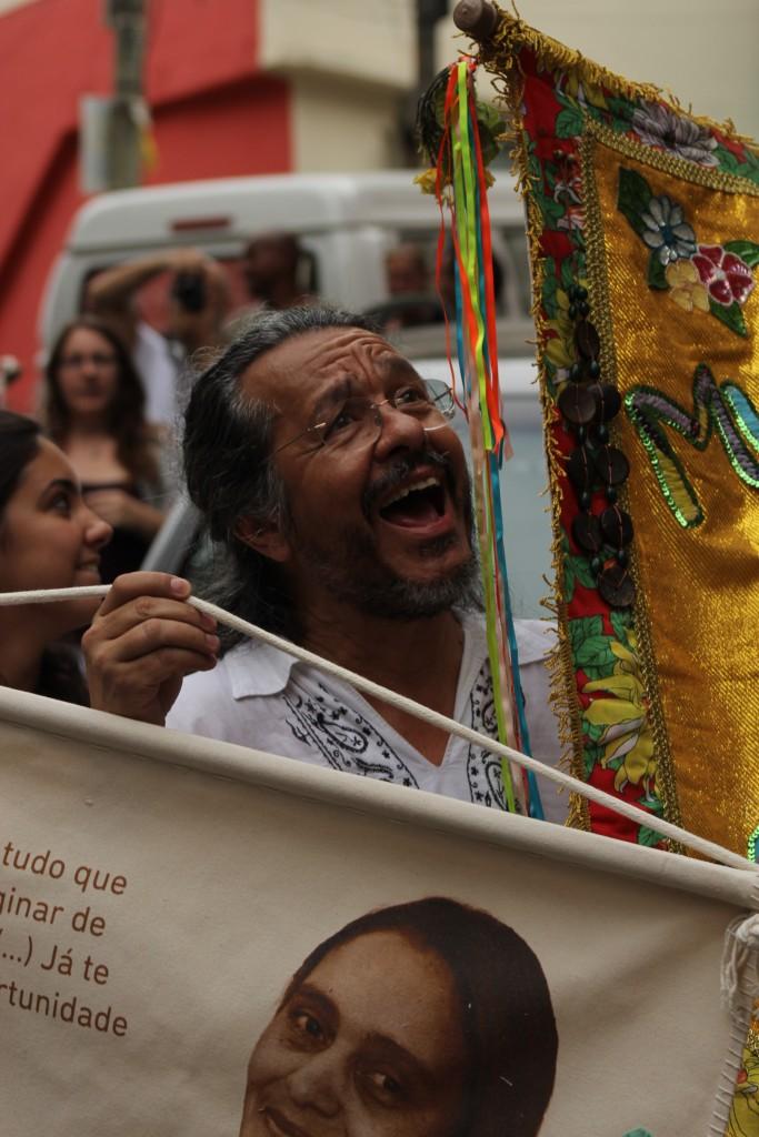 Mario Chagas liderou a procissão.
