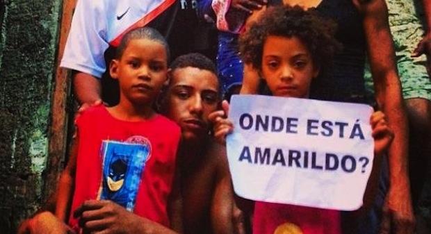 Onde está amarildo? Foto: Rio de Paz