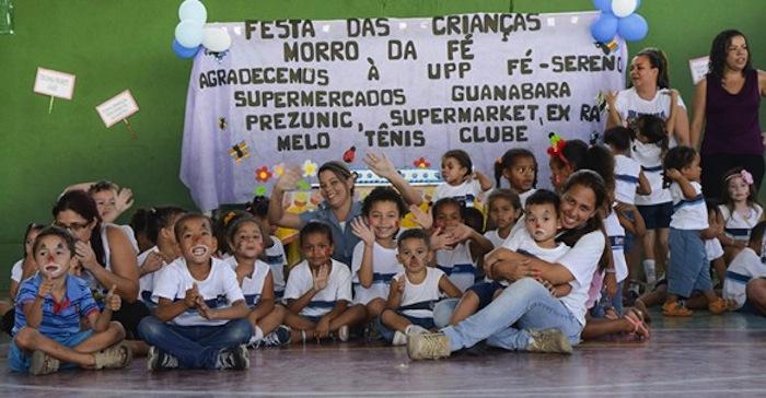 A UPP de Fé e Sereno conquistou a população ao apoiar os eventos da comunidade. Foto: Agnaldo Santana