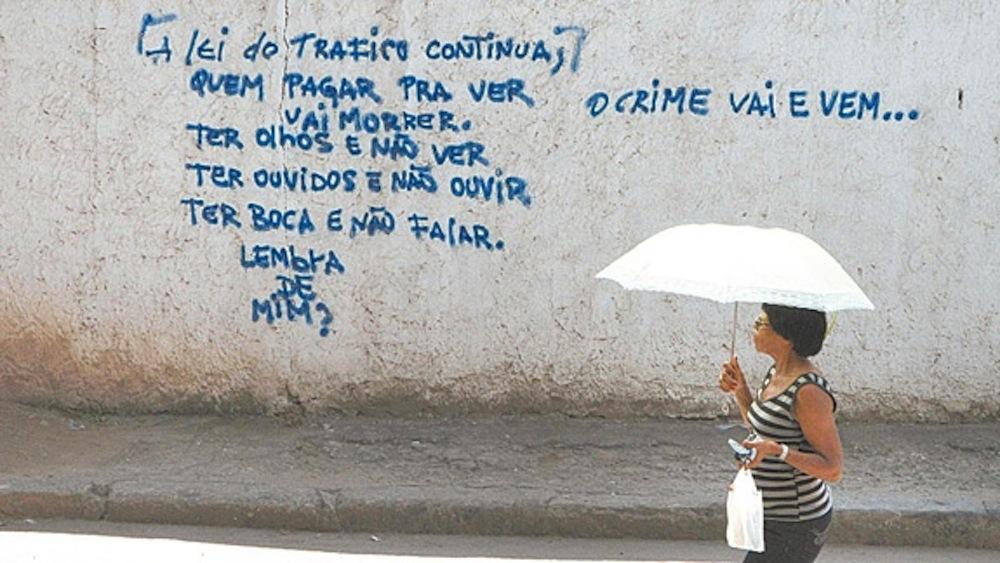 Grafite em Caju. Foto: Alexandre Vieira / Agência O Dia