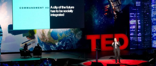 Eduardo Paes during his TED talk