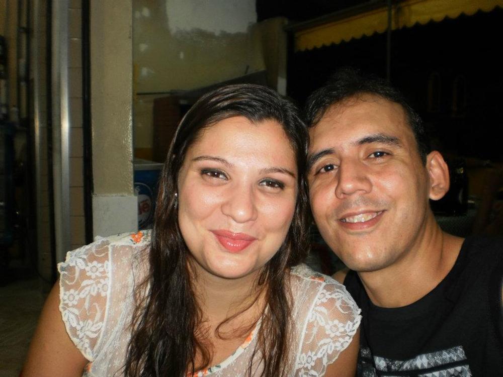 Geise e seu marido