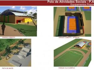 Imagens de um dos projetos feitos para o Parque