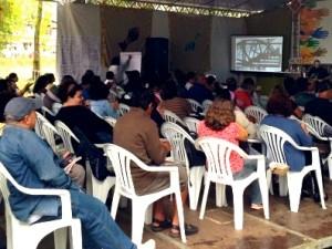 Platéia do I Encontro de Turismo de Base Comunitária da Costa Verde