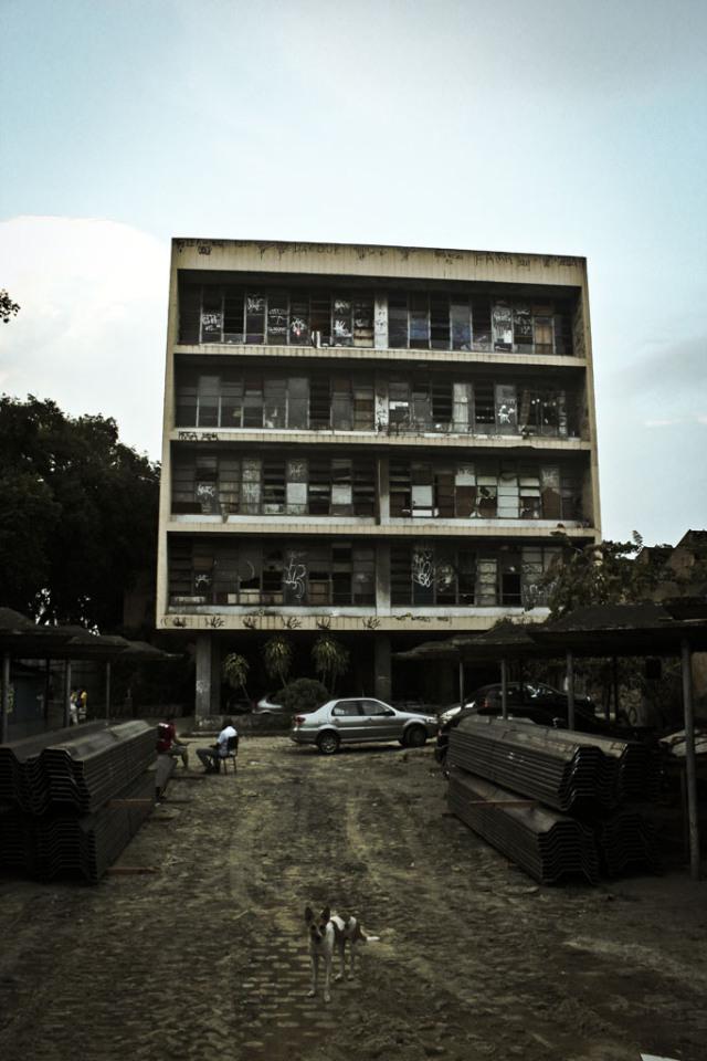 O edifício ocupado pelo Quilombo das Guerreiras