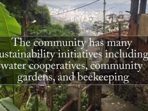 Morro da Formiga - A comunidade tem muitas iniciativas de sustentabilidade tais quais: cooperativas de água, jardins comunitários e apicultura.