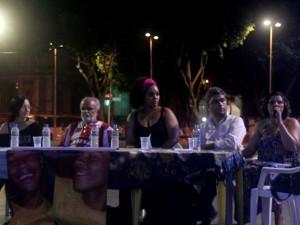 Da esquerda para a direita: Montovani, Deley de Acari Monique Cruz, Hertz Leal e Maria