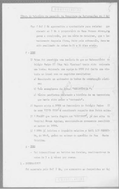 """Ata de uma reunião realizada em 1971: """"Intensificar as batidas nas favelas, realizando-as da ordem de 3 a 4 vezes por semana"""""""