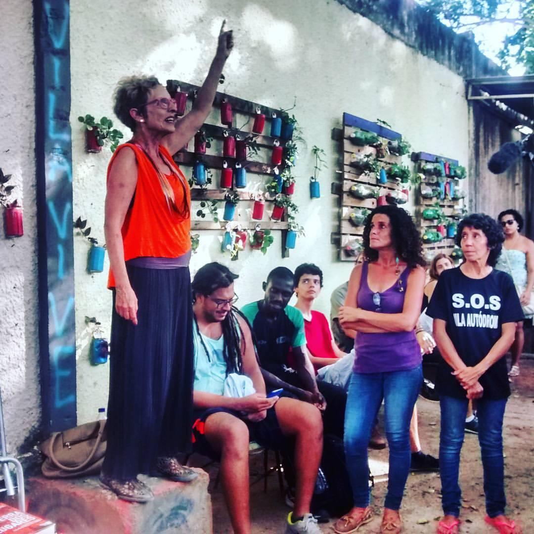 Raquel Rolnik falou sobre o direito a moradia na Vila Autódromo