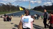 Heloisa Helena continua sua luta em Washington D.C. Foto da página de Heloisa Helena no facebook