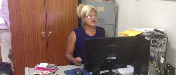 Mônica Cunha na sede do Rede