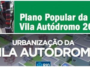 Plano Popular e Plano da prefeitura para a urbanização da Vila Autódromo
