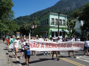 Protesto no Horto
