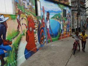 Grafite no Museu de Favela do Cantagalo. Foto por Andre Gomes de Melo