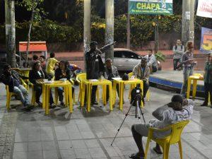Debate eleitoral com os candidatos para a Associação de Moradores da Vila do Vidigal . Foto por Mathilde Mouton