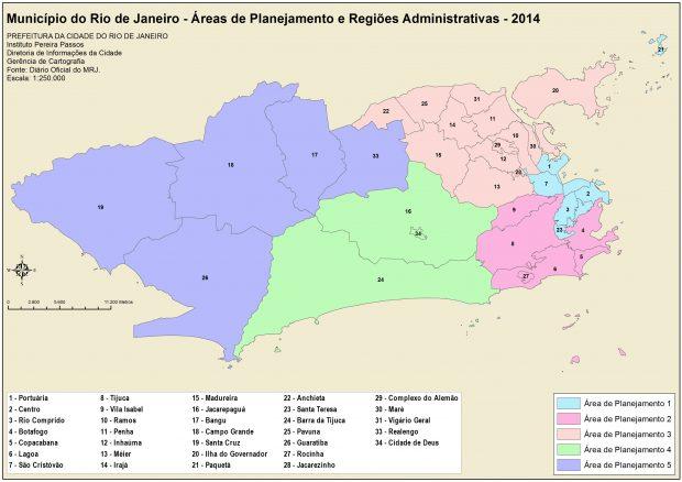 1313_áreas de planejamento e regiões administrativas - 2014- 2