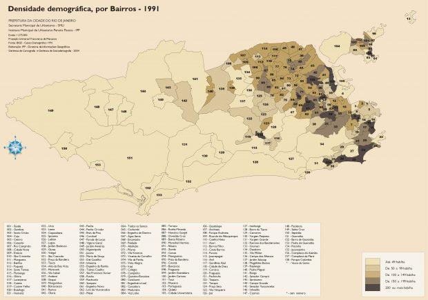 1326_densidade demográfica, por bairros - 1991