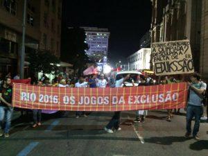 Foto da página Rio 2016 - Os  Jogos da Exclusão no Facebook