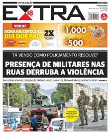 Capa do Jornal EXTRA de hoje