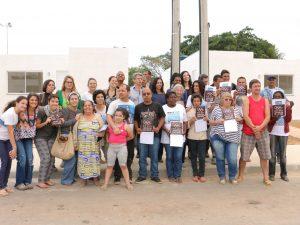 Vitória da Vila Autódromo. Foto da página do Facebook do Museu de Remoções