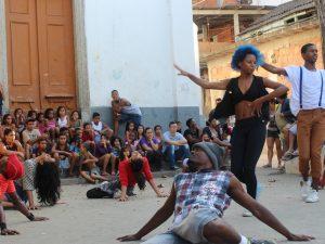 Efeito Urbano faz performace no Festival Subindo a Ladeira. Foto: Miriane Peregrino