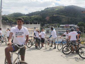Henrique Silva, no primeiro dia em Japeri. Foto da página do Facebook da Casa Fluminense