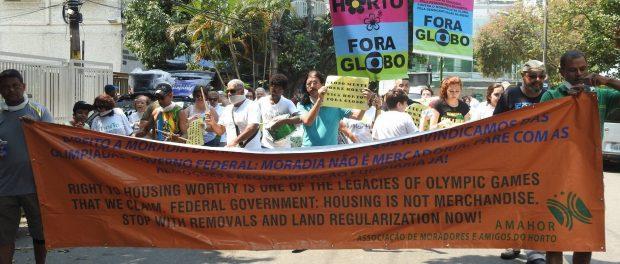 Protesto no Horto no domingo passado