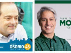 Candidatos a prefeito de 2016, da esquerda para a direita: Pedro Paulo; Carlos Osorio; Alessandro Molon; Carmen Migueles