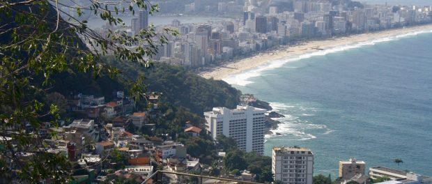 Vista do Leblon e Ipanema, onde as filhas da Suzanna vai a escola