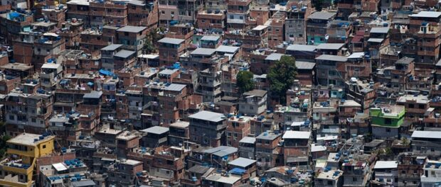 Vista área da Rocinha. Foto de Felipe Dana/AP