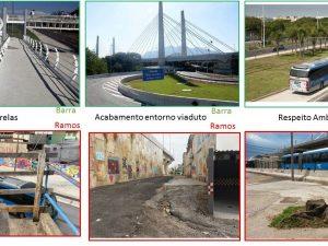 Comparação do BRT Transcarioca na Barra e em Ramos. Legado Olímpico de Eduardo Paes