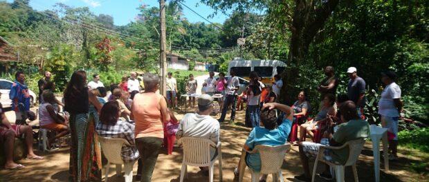 Reunião de moradores no Horto