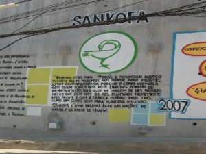 Mural do Museu Sankofa na Rocinha