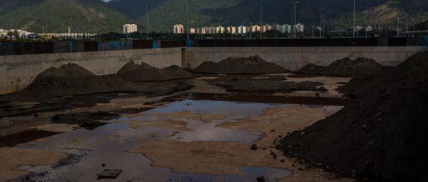 Local do que foi a piscina de aquecimento dos Jogos Olímpicos no Rio de Janeiro. Crédito Dado Galdieri para o New York Times