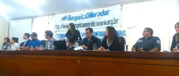 A mesa contou com representantes da Defensoria Pública, da Comissão de Direitos Humanos da Alerj e da Câmara dos Vereadores, das Secretarias de Segurança Pública e de Saúde, do Comando das Unidades de Polícia Pacificadora (UPPs), e de movimentos sociais do Complexo do Alemão.