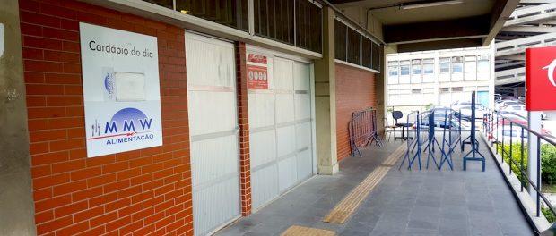 Restaurante Universitário de portas fechadas